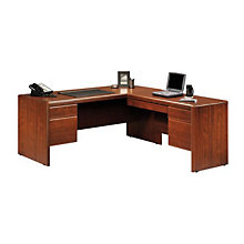 Cornerstone Reversible L-Desk with Laptop Drawer, OFG-LD0001
