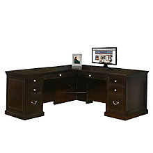 Fulton Espresso Executive L-Desk with Left Return, OFG-LD1212
