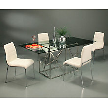 Fuerza Glass Top Conference Table and Chair Set, PAE-10839