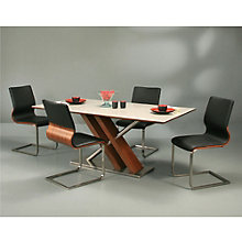 "Charlize Wood Veneer Modern Conference Table and Chair Set - 70""W, PAE-10842"