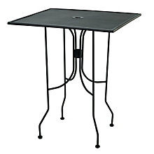 "Metal Bar Height Outdoor Table - 36"" Square, PHX-OF3636BHBK"