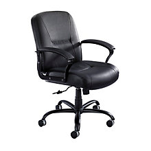 Serenity Mid Back Leather Big and Tall Chair, SAF-3501BL