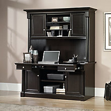 "Avenue Eight Credenza with Pull-Out Worksurface and Hutch - 62""W x 22""D, 8803127"