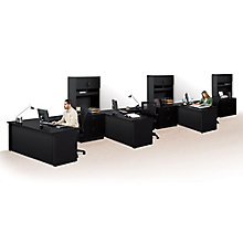 Via Reversible Compact L-Desks with Hutches - Set of Three, 8803865