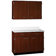 "Two Drawer, Four Door Wall and Base Cabinet Set - 48""W, STI-SA-OO9488424"