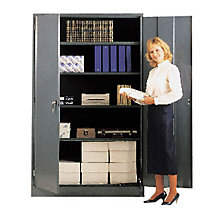 """Ready to Assemble Extra Wide Steel Storage Cabinet - 48""""W x 24""""D x 78""""H, 8804083"""