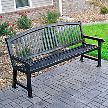 Savannah Bow Back Outdoor Bench - 6'W, ULT-922-B6