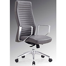 Modrest Ridged High Computer Chair in Faux Leather, 8804956