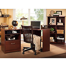 Cabot Corner Desk and Six Cube Bookcase, 8804870