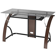 """Claremont Compact Glass Top Wood Frame Desk - 47""""W, 8802971"""