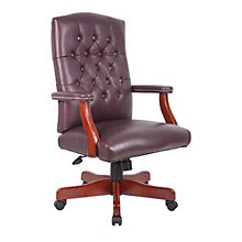 Widmore Traditional Tufted Bonded Leather Executive Chair, 8802399