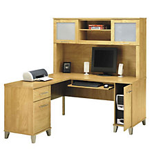 Reversible L-Desk with Hutch, OFG-LD1068