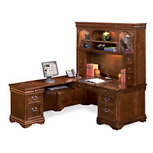 L-Shaped Desk with Left Return and Hutch, OFG-LD1234