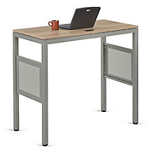 """At Work Standing Height Desk in Warm Ash - 48""""W x 24""""D, 8803980"""