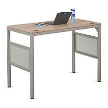 """At Work Standing Height Desk in Warm Ash - 60""""W x 30""""D, 8803981"""