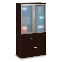 "Two Drawer Lateral File with Storage Cabinet - 36"" W, OFG-LF1047"