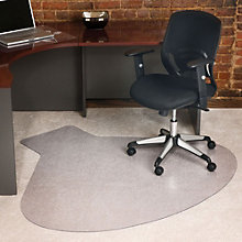 """Workstation Shaped Chair Mat - 66"""" x 60"""", INV-10658"""