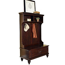 "Bermuda 64.5"" Hall Coat Tree With Storage Cabinet, 8801375"