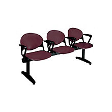 Polypropylene Three Seat Bench with Arms, OFG-RS0018