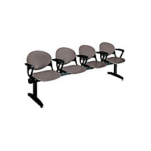 Polypropylene Four Seat Bench with Arms, OFG-RS0019