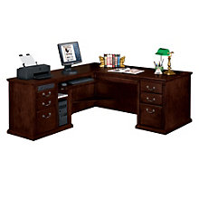 Huntington Cherry L-Desk with Left Return, OFG-MS2010