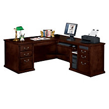 Huntington Cherry L-Desk with Right Return, OFG-MS2009