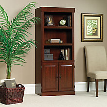"""Heritage Hill Five Shelf Bookcase with Doors - 71"""" H, 8802576"""