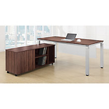 Modern Table Desk with Modesty Panel and Credenza, OFG-EX0059