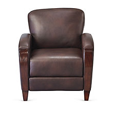 Wood Trim Club Chair in Faux Leather, 8802558