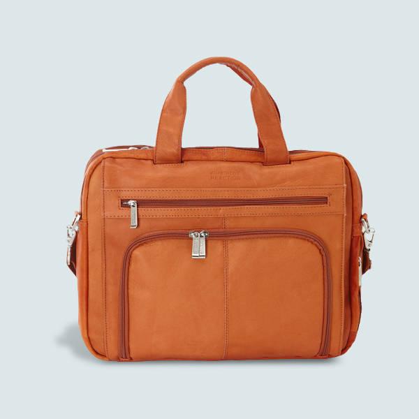 Shop Kenneth Cole Reaction Colombian Leather RFID Laptop Portfolio