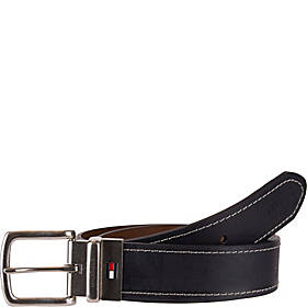 Tommy Hilfiger Accessories 38MM Reversible Belt with Flag Logo on Buckle Shank