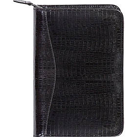Scully Lizard Embossed Leather Zip Around Weekly Planner
