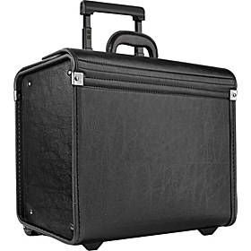 SOLO Classic Rolling Catalog Case, Black with dual combination locks