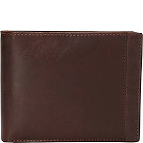 Mancini Leather Goods Casablanca Collection: Men's RFID Wallet Billfold with Removable Passcase