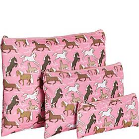 Wildkin Horses in Pink 3-pc Organizer