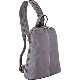Le Donne Leather U-Zip Women's Sling/Back Pack