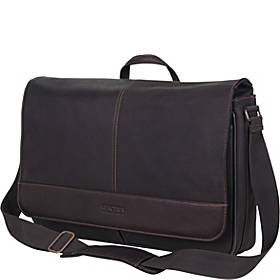 Kenneth Cole Reaction Come Bag Soon - Colombian Leather RFID Laptop & iPad Messenger