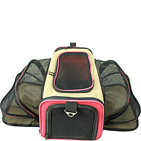 Pet Life Pet Life Roomeo Folding Collapsible Airline Approved Pet Dog Carrier Crate