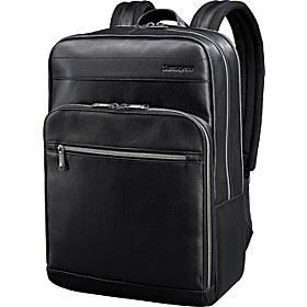 Samsonite Leather Slim Laptop Backpack