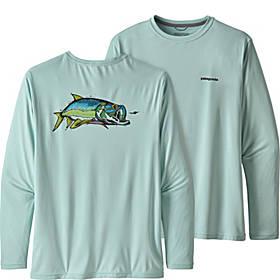 Patagonia Mens Long Sleeve Cap Cool Daily Fish Graphic Shirt