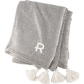 Cathy's Concepts Personalized Herringbone Throw with Tassels