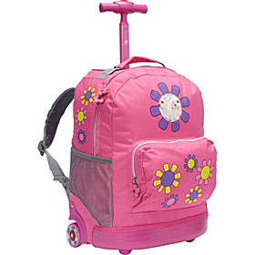 J World New York Daisy Rolling Kids Backpack (Kids ages 4-8)