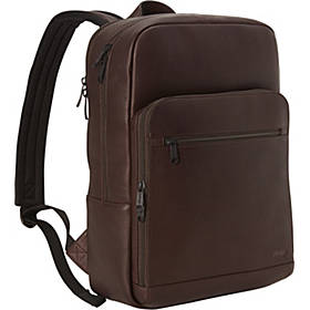 eBags Slim Colombian Leather Laptop Backpack