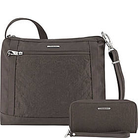 Travelon Anti-Theft Square Crossbody and Wallet Set - Exclusive