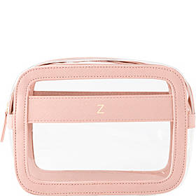 Cathy's Concepts Personalized Small Vegan Leather Travel Cosmetic Case