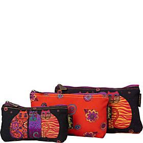 Laurel Burch Feline Friends 3 in 1 Cosmetic Bag Sets