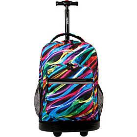 J World New York Sunrise Rolling Backpack - 18