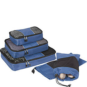 eBags Value Set: Classic Packing Cubes + Shoe Sleeves