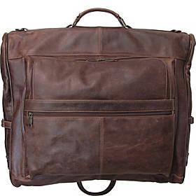 AmeriLeather Leather Three-suit Garment Bag