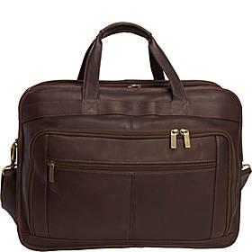 Le Donne Leather Oversized Laptop Brief